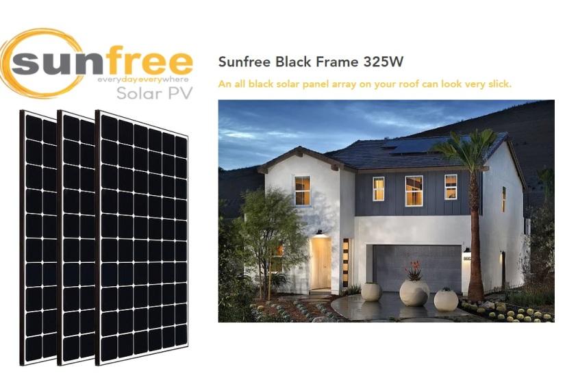 Sunfree Black Frame 325W